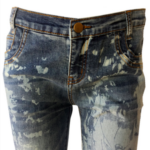 Evelyn Splatter Jeans, Creamie, Danish Denim, Splatter Paint Jeans, Teen Fashion