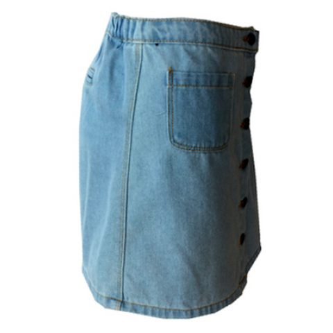 Stretch Light Denim Skirt - Light Wash | Hayden LA (USA)