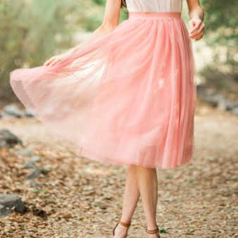 Blush Maxi Tulle Skirt | Feather Drum (AUS) - SIZE 12 ONLY