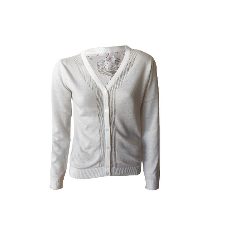 White Basic Knit Cardi | Crush Denim (Netherlands)