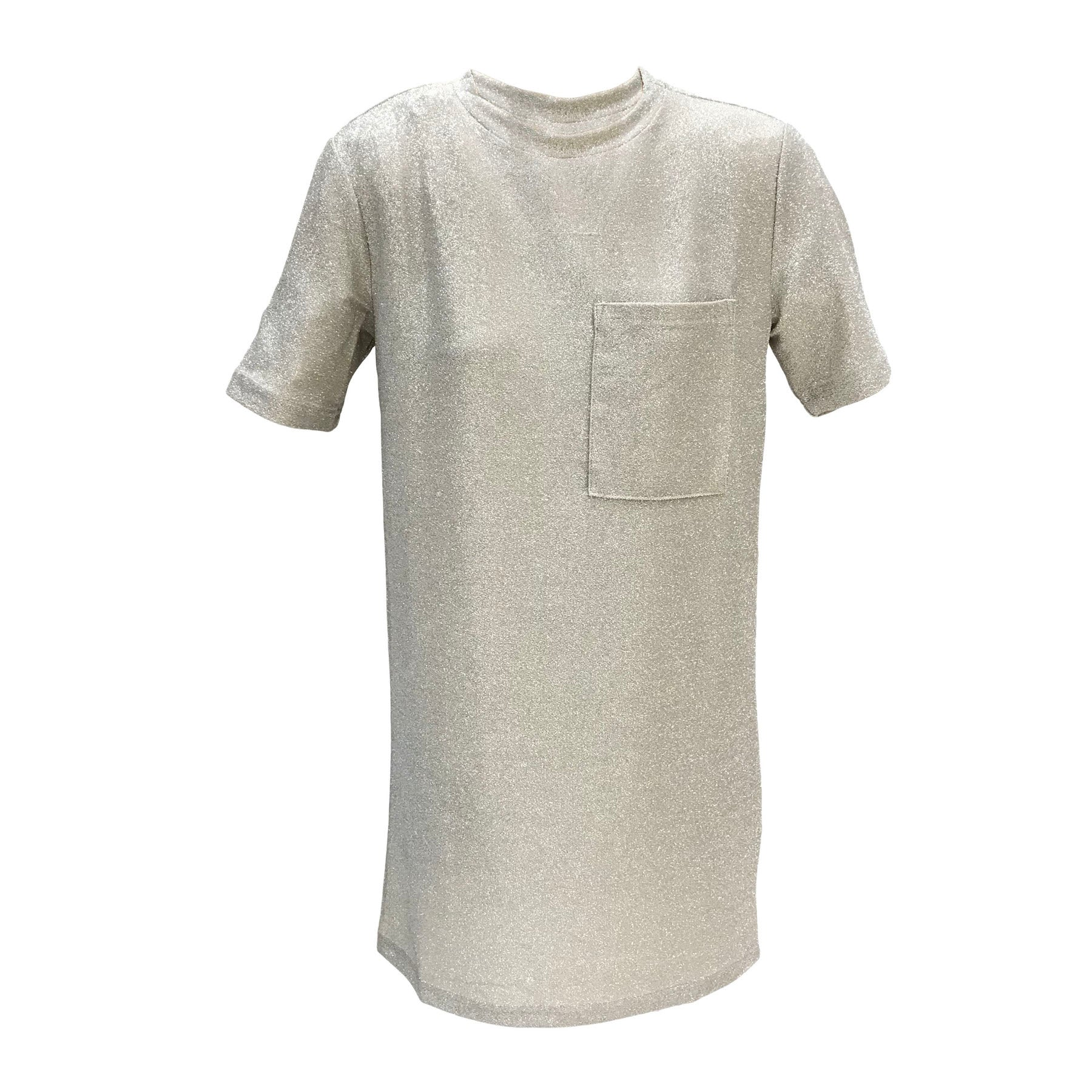Silver Pocket Tee Dress | Grunt (Denmark) - SIZE M ONLY