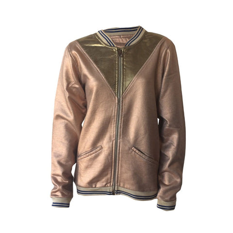 Metallic Sweat Bomber Jacket | Scotch & Soda (Netherlands)
