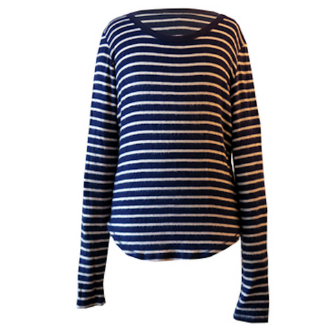 Navy & White Stripe Crew | T2 Love (USA)