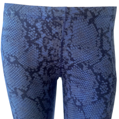 Snake Skin Leggings, Blue/Black Leggings, Super soft leggings, T2 Love, Teen Fashion