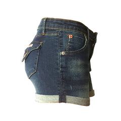 Dark Vintage rolled cuff short, collin denim shorts, cuffed denim shorts, hudson