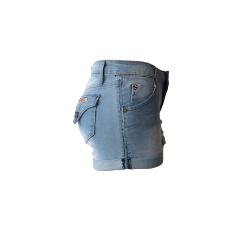 "Super cool and super comfy. These 2 1/2"" rolled cuffs by US Brand Hudson Jeans are a classic five pocket short with a cool faded wash. Perfect summer short for teens."