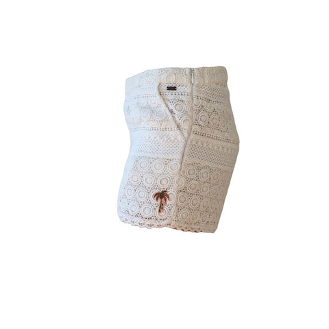 Fresh and feminine, the R'belle Panelled Lace Shorts are a must when warm weather calls. These crochet lace mini shorts are beautifully made from embroidered lace bringing elegance to your summer look.  Pair with a black cami top for a formal summer look.