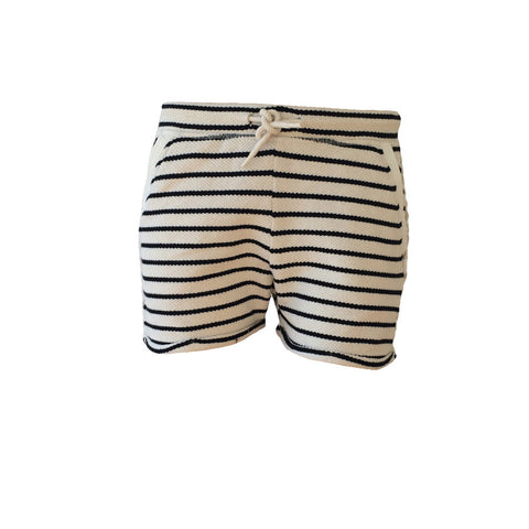Amazing beige and black stripe sweat short. Super comfy for any kind of activities, they are a must for the summer!