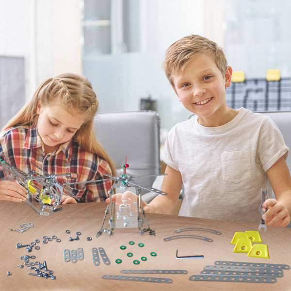 STEM Helicopter Building Toy Model Kit - Best for Ages 8+
