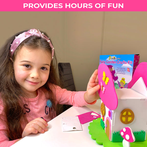 Fairy Garden House Kit for Kids - Fun Craft Fairy House & Doll - Ages 5-10