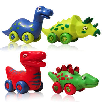 DinoFriends Dinosaur Toys for Boys and Girls - Set of 4 Toy Dinosaurs