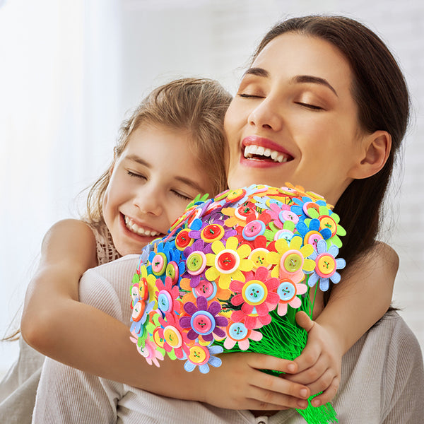 Flower Crafts Kit for Kids Age 4 to 12 - Fun DIY Craft Kit for Girls & Boys