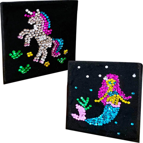 Unicorn & Mermaid Sequins Crafts Kit for Girls and Boys Ages 3 to 7