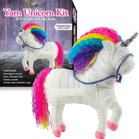 Yarn Unicorn Craft Kit for Girls and Boys - Unicorn Arts & Crafts Gift for Tweens and Teens - Age 8 and Up