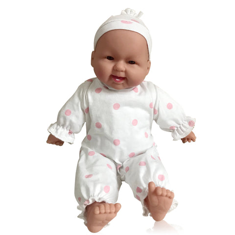 Hispanic Baby Doll for Toddlers Girls and Boys - Soft Huggable Latina Baby Doll Girl with Removable Clothes, 14 inch
