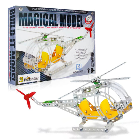 STEM Helicopter Building Toy Kit - Educational Construction Model Kit for Boys and Girls Age 8 9 10 11 Years Old - Kids Age 6 and 7 Can Do with Help