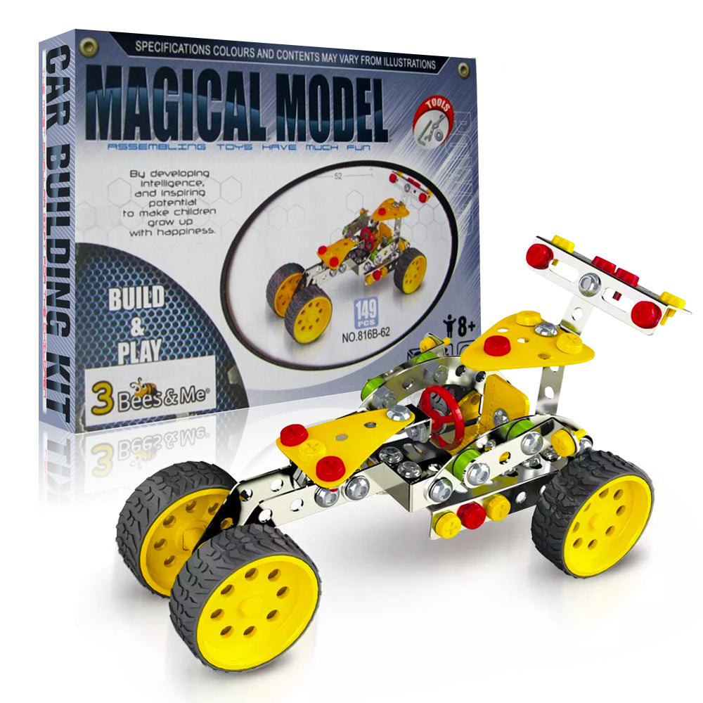 STEM Car Building Toy Kit - DIY Engineering Educational Gift for Boys and  Girls Age 8 9 10 11 Years Old - Kids Age 6 and 7 Can Do With Help - Rugged