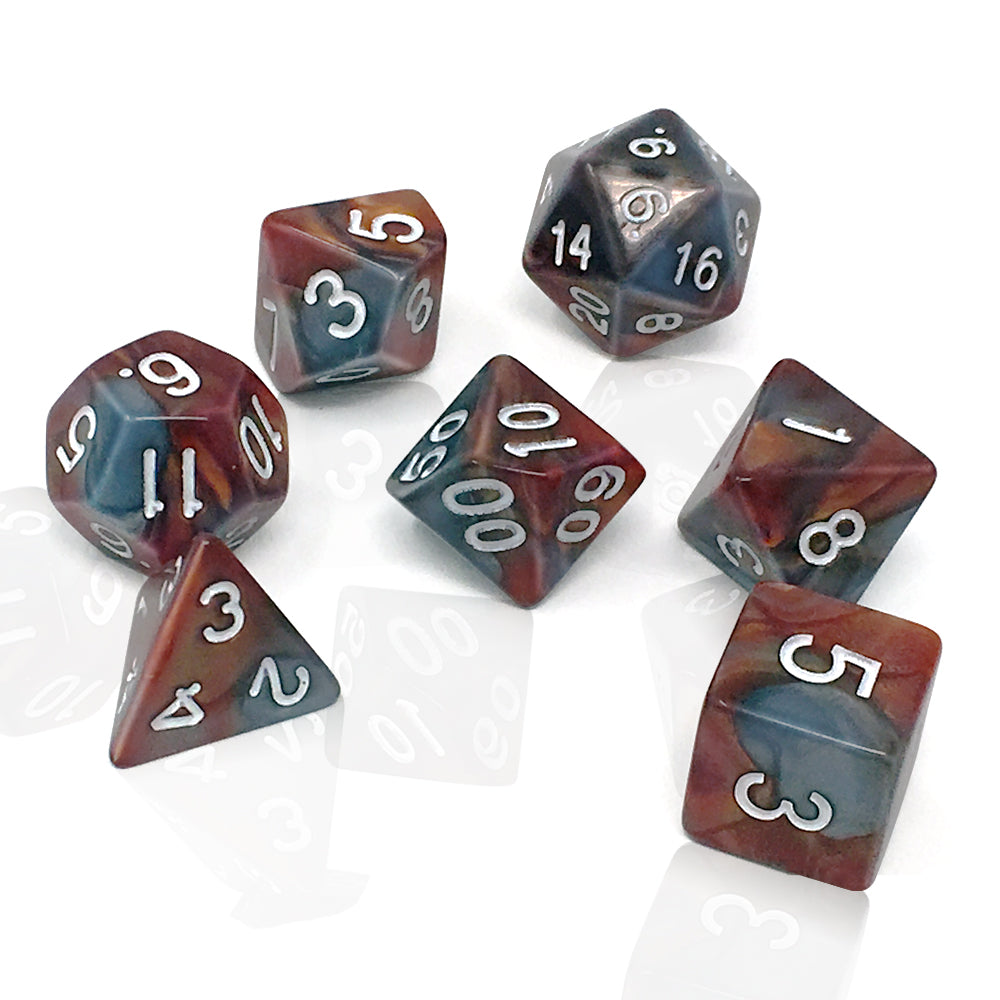 Polyhedral Dice Set with d4 d8 d10 d12 d20 for Playing RPG Games like Dungeons and Dragons DND - D&D 4 8 10 12 20 Sided Dice & Bag