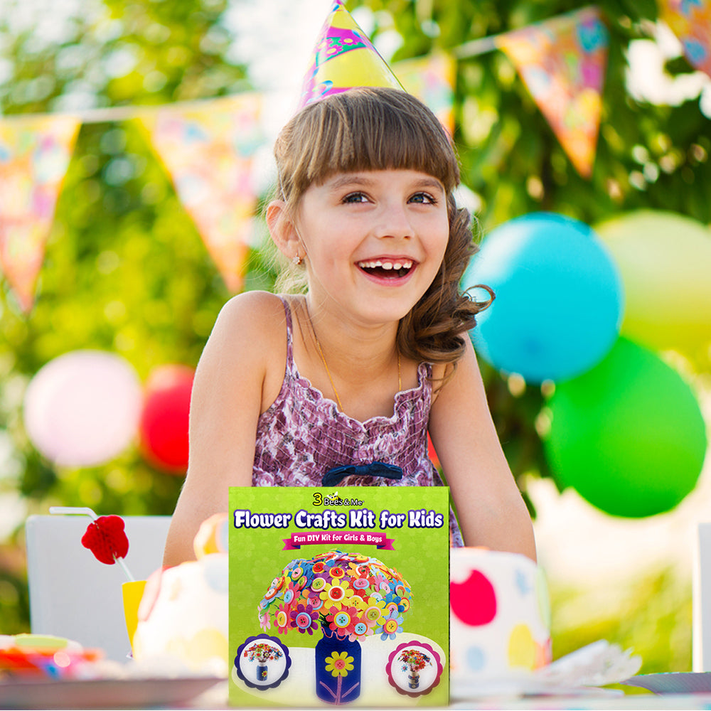 - Bugs and Bees Themed Art and Craft kit jackinthebox Junior Best Gift for Girls and Boys Ages 3 4 5 Years 3-in-1 Craft Kit