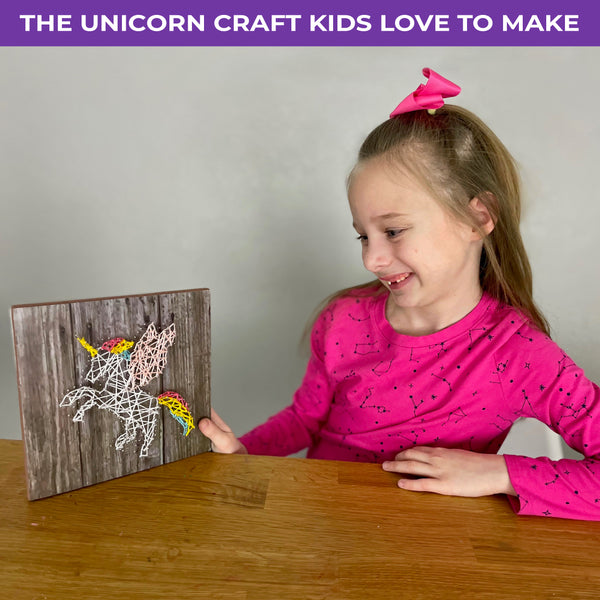 String Art Unicorn Craft Kit - DIY Fun for Tweens and Teens - Age 8 and Up