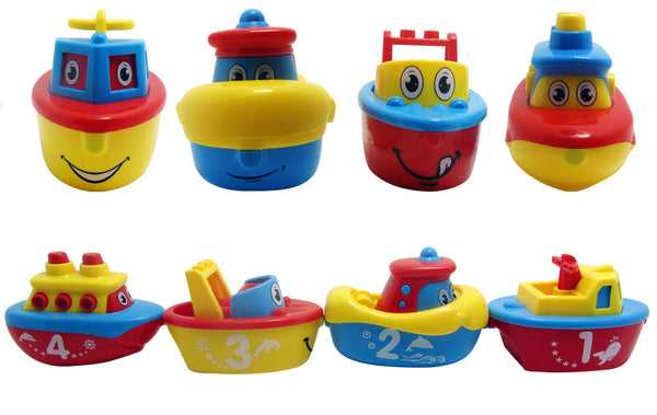 Fun Bath Toys for Boys and Girls - 4 Magnet Boats for Toddlers & Kids - Fun & Educational