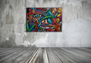 Channel Dialect 24 x 36 Canvas - Joshua Oliveira