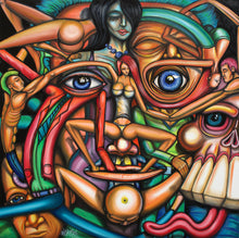 Load image into Gallery viewer, Sober Hallucination Original Surrealism Painting - Joshua Oliveira