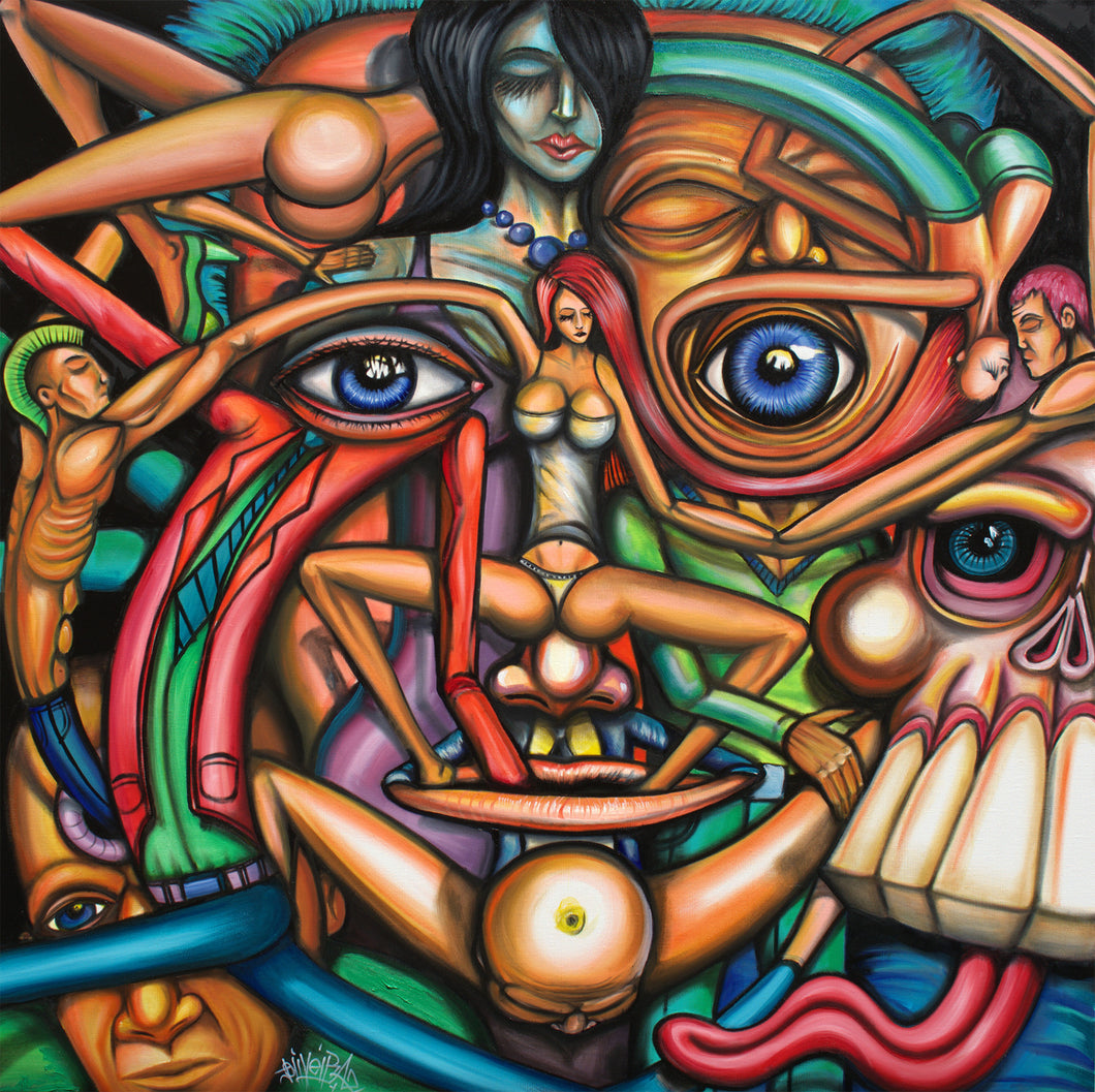 Sober Hallucination Original Surrealism Painting - Joshua Oliveira