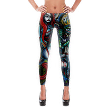 Load image into Gallery viewer, Galactic Contraband Art Leggings - Joshua Oliveira