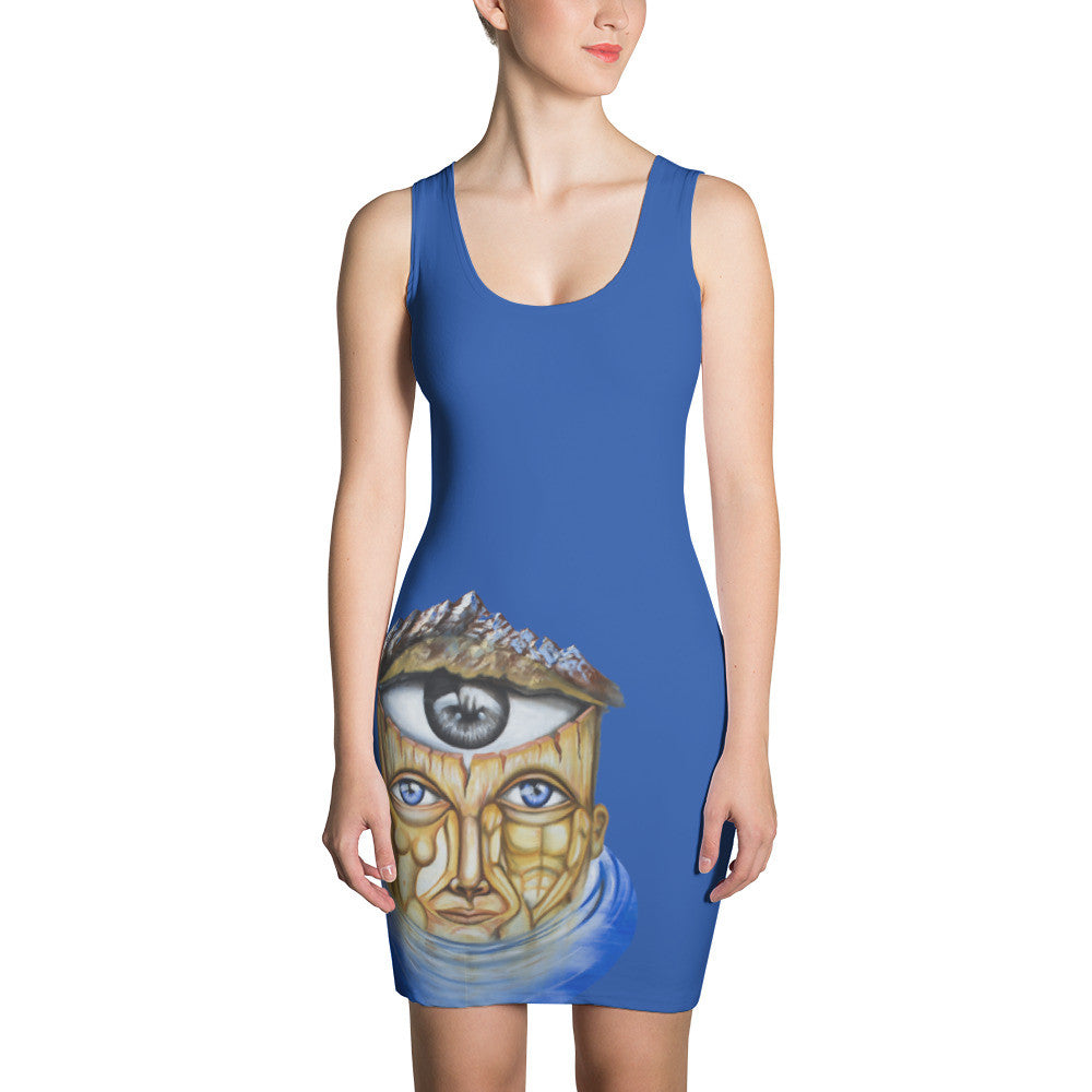 Unification of Both Sides of the Brain Cut & Sew Dress - Joshua Oliveira