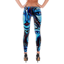 Load image into Gallery viewer, Blue Martini Art Leggings - Joshua Oliveira
