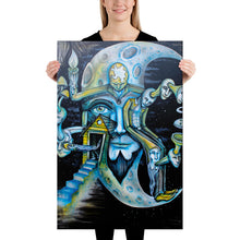 Load image into Gallery viewer, Blue Moon Surreal Art Canvas - Joshua Oliveira