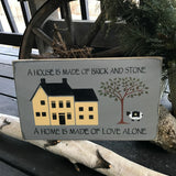 House Sign, Rustic Wooden Sign