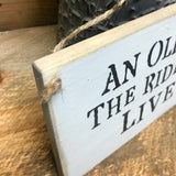 An Old Biker And The Ride Of His Life Live Here, Wooden Sign, Gift For Husband