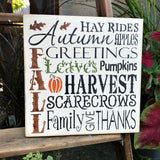 Fall Decor, Harvest Sign