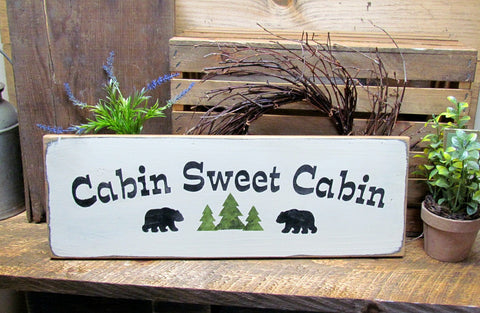 Cabin Sweet Cabin, Log Home Lake House Decor