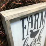 Farm Fresh Eggs, Rustic Wood Sign