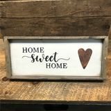 Home Sweet Home, Framed Wooden Sign