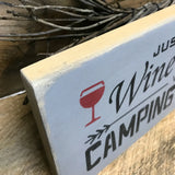 Wooden Camping Sign, Wine Sign