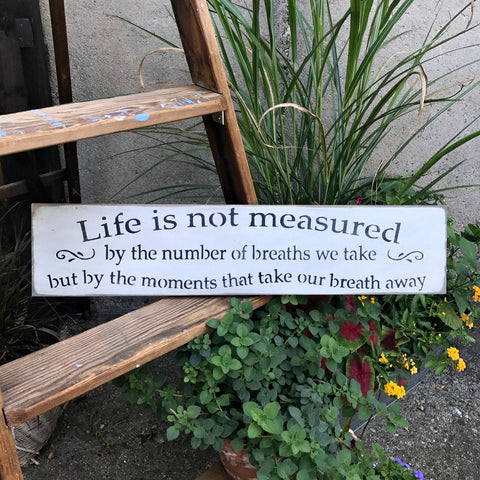 Life Is Not Measured Saying