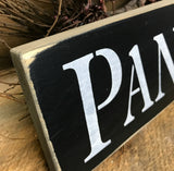 Pantry, Wood Sign