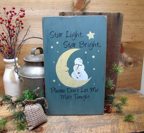 Star Light Star Bright, Snowman Sign