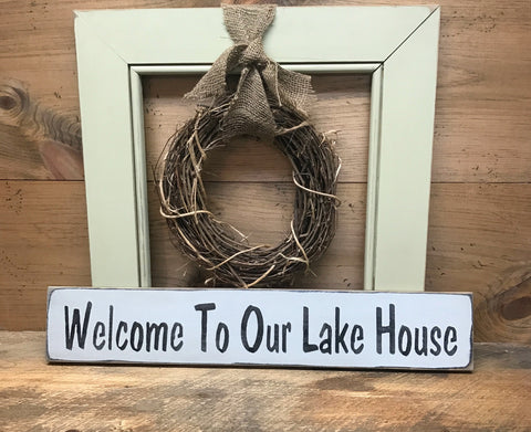 Lake House Decor, Lake house sign