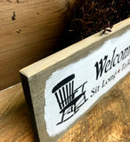 Wood Porch, Welcome To Our Porch, Wooden Sign
