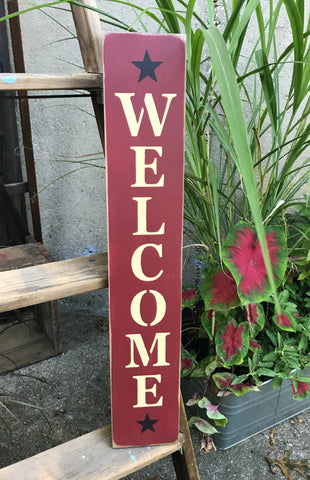 Welcome Wooden Welcome Sign Woodticks Wood N Signs