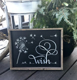 Wish, Rustic Framed Sign
