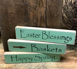 Wooden Spring Signs,