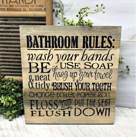 Rustic Bath Sign