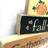 Fall Gatherings, Stacking Signs