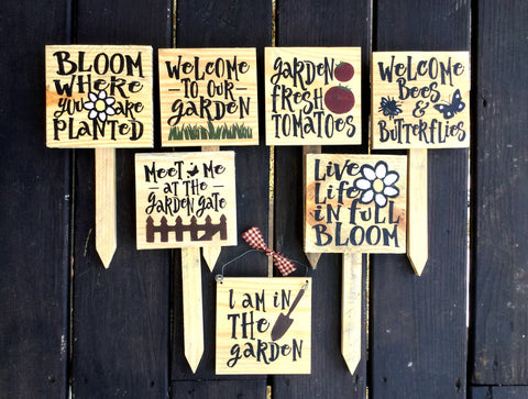 Products Tagged Garden Signs Woodticks Woodn Signs